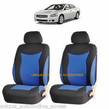 BLUE SPEED AIRBAG COMPATIBLE FRONT SEAT COVER SET for NISSAN ALTIMA SENTRA
