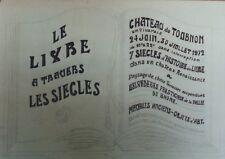 """""""LE LIVRE A TRAVERS LES SIECLES"""" Projet 1972 Dessin original sur papier 64x40cm"""