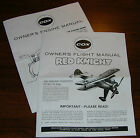 COX .020 RED KNIGHT AIRPLANE OWNERS FLIGHT INSTRUCTION AND 020 ENGINE MANUAL