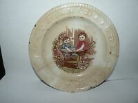 ANTIQUE STAFFORDSHIRE ABC CHILD'S PLATE READY FOR A RIDE