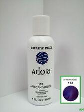 CREATIVE IMAGE ADORE SEMI PERMANENT HAIR COLOR #113 AFRICAN VIOLET 4oz