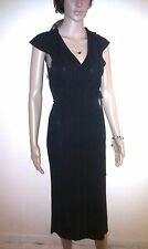 PHASE EIGHT Black Evening Dress. Long, Almost Maxi. Cocktail Party.   SIZE 10
