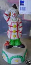 Vintage Porcelain Clown Figural Music Box Look