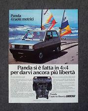 F318-Advertising Pubblicità- 1983 - FIAT PANDA 4 RUOTE MOTRICI