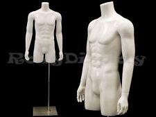 Fiberglass Male Mannequin Dress Form Display Torso Half Body Clothing #MD-TMWS