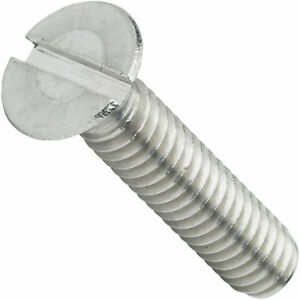 """10-24 x 3/8"""" Flat Head Slotted Machine Screws Stainless Steel 18-8 Qty 100"""