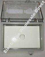 Weather proof 1 gang SWITCH + Protected WATER PROOF Enclosure Lock Clear Lid GPO