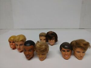 BARBIE DOLL KEN HEAD LOT OF(8)ONLY FOR REPLACEMENT #1