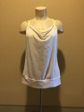 LUCY Yellow Bra Off White Top Tank Built in Sport Bra Workout Small