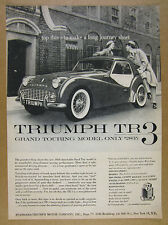 1958 Triumph TR-3 TR3 with Detachable Hardtop photo vintage print Ad