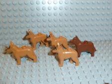 LEGO City statuine Schäfer cane cane da guardia in chiaro e scuro marrone
