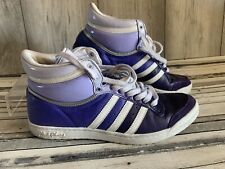 ADIDAS SLEEK SERIES SIZE UK 6 PURPLE LACE UP HIGH TOPS TRAINERS