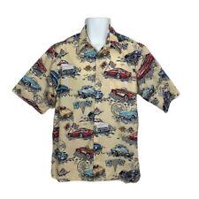 Vintage Reyn Spooner Men's Hawaiian American Classics Chevrolet Corvette Shirt L