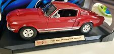 MAISTO 1/18 SCALE DIECAST 1967 SHELBY GTA FORD MUSTANG RED SPECIAL EDITION