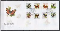 Malawi, Scott cat. 706-713. Butterfly Definitive issue on a First day cover.