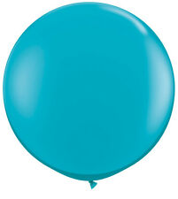 """3' HUGE 36"""" Tropical Teal Qualatex Latex Balloon Party Decoration Birthday Baby"""