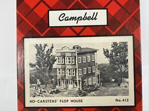 Campbell  Carstens Flop House Wood Building Model Kit HO 413