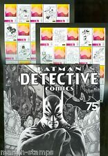 AUSTRALIA 2014 75th ANN OF BATMAN DETECTIVE COMICS TWO SHEETS IN FOLDER MINT  NH