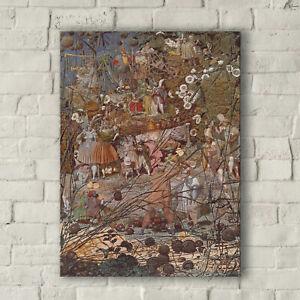 Richard Dadd: The Fairy Feller's Master Stroke. Fine Art Canvas
