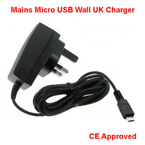 CHARGER FOR ALCATEL ONE TOUCH POP C1 PHONE - UK MAINS PLUG MICRO USB COMPATIBLE