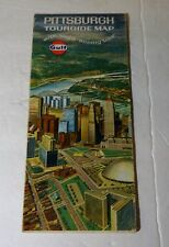 1969 GULF PITTSBURGH PA Tourgide Oil Gas Service Station Road Map