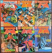 Batman Detective Comics #548,551,552,557,559,560 DC Comics 1985 lot