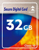 Speicherkarte 32 GB SDHC CLass 10 High Speed für Kamera Nikon D3200