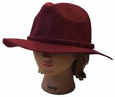 100% Wool Vintage Bow Knot Trim Church Dress Fashion Floppy Fedora Hat Cap f8cfd403c862