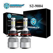 IRONWALLS 2x 9004 HB1 3Sided LED Headlight Bulb 2000W 300000lm 6000K White Beam