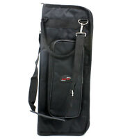 Black Percussion Drumsticks Bags Drum Sticks Bag Soft Case with Shoulder Strap