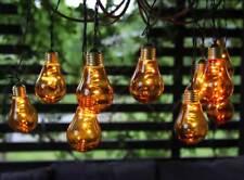 LED Lichterkette orange Glühbirnen 5x10 LED ca. 3,6m für Partybeleuchtung