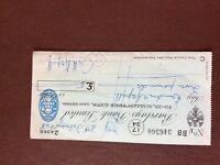 b1u ephemera cashed barclays bank cheque 1948 feb 346560