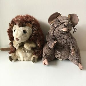 Folkmanis Hand Puppets x2 - Hedgehog and Brown Mouse