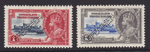 Somaliland Protectorate. SG 86s & 87s, 1935 specimens. Mounted mint.