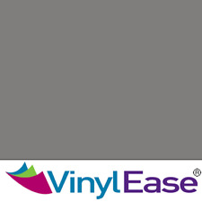 One 12 in x 40 ft Roll Glossy Grey Permanent Craft and Sign Vinyl V0432