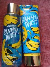 ~*Victoria's Secret Banana Twist Body Spray/Mist set of 2 8.4oz/8oz*~