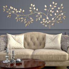 Wall Decor Decorative Metal Hanging Decorative Home Room Bedroom Gold Leave Art