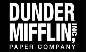"""5"""" Dunder Mifflin Paper High Quality Decal Bumper Sticker Car The Office Tv Show"""