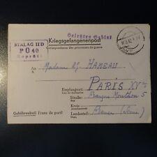 LETTRE PRISONNIER DE GUERRE STALAG II D 11.09.42 KRIEGSGEFANGENENPOST POW