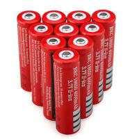 10PCS 18650 4000mAh 3.7V Li-ion Rechargeable Battery for Flashlight & Headlamp