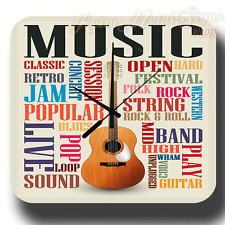 MUSIC VINTAGE RETRO  METAL TIN SIGN WALL CLOCK