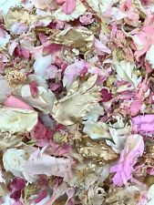 Biodegradable Wedding Confetti GOLD PINK FLUTTER FALL Real IVORY Throwing Petal
