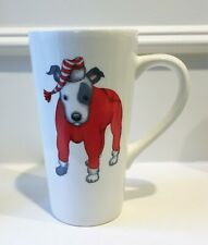 New Department 56 Fetch The Spirit Bull Terrier in Red Pjs & Night Cap Mug - Nwt