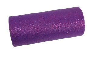 """6"""" GLITTER Sparkle Quality TULLE Roll 25 YARDS Choose Color"""