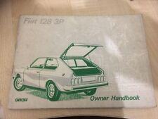 Fiat 128 3p Berlinetta Owners Handbook Manual