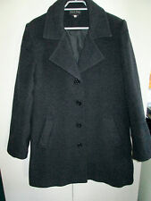 Ladies Sarah Jean Size 12 Wool Blend Coat button Front Lined