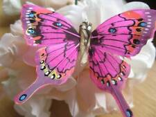 Swallowtail Feather Butterfly - Bright Pink - 8.0cm wingspan