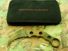 CUSTOM RED SCORPION SIX BLADES RM6 M KARAMBIT TACTICAL COMBAT KNIFE KNIVES TOOLS