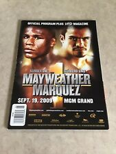 Mayweather Vs Marquez Official Fight Program 09.19.2009 Golden Boy Mgm Grand