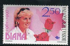 BOSNIA & HERZEGOVINA 1997 DIANA PRINCESS of WALES/ROYALTY/AID/FLOWERS/ROSES MNH